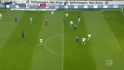 Wolfsburg 4-2 Hoffenheim - Goal by B. Dost (7')