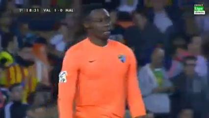 Valencia 3-0 Málaga - Golo de Charles (19min)