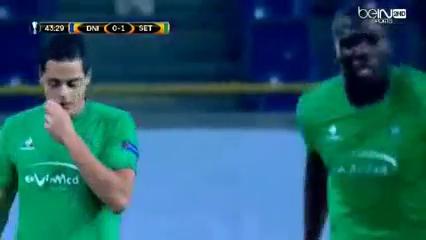 Dnipro Dnipropetrovsk 0-1 Saint-Étienne - Golo de R. Hamouma (44min)