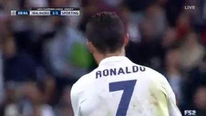 Real Madrid 2-1 Sporting CP - Golo de Cristiano Ronaldo (89min)