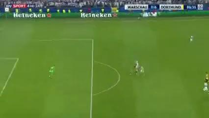 Legia Warszawa 0-6 Borussia Dortmund - Golo de P. Aubameyang (87min)