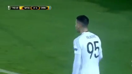 Maccabi Tel Aviv 3-4 Zenit - Golo de A. Kokorin (76min)