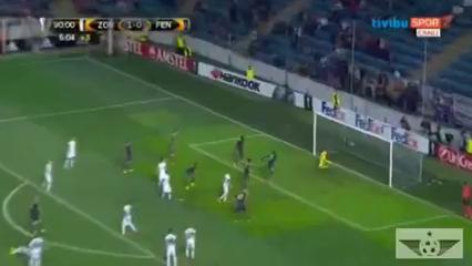 Zorya 1-1 Fenerbahçe - Golo de S. Kjær (90+6min)