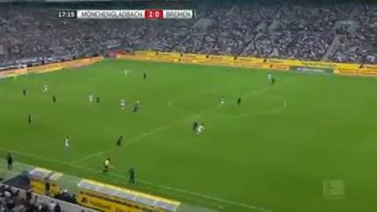 Borussia M'gladbach 4-1 Werder Bremen - Golo de T. Hazard (17min)