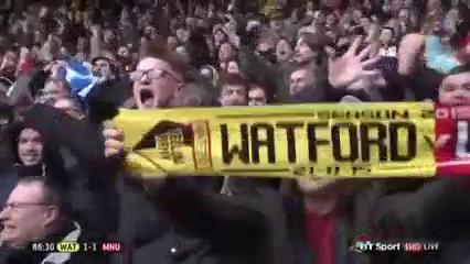 Watford 1-2 Man Utd - Gól de T. Deeney (87min)