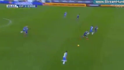 Espanyol 2-0 Málaga - Golo de H. Pérez (6min)