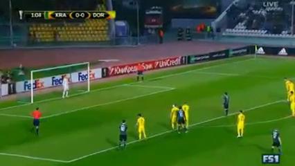 Krasnodar 1-0 Borussia Dortmund - Golo de P. Mamaev (2min)