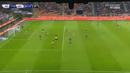Milan 1-1 Verona - Goal by L. Toni (57')