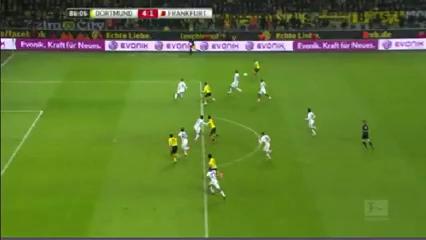 Borussia Dortmund 4-1 Eintracht Frankfurt - Golo de A. Ramos (86min)