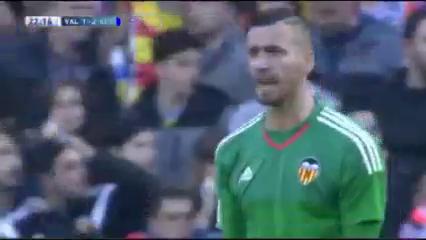 Valencia 2-2 Getafe - Golo de Pablo Sarabia (10min)