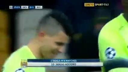 Dynamo Kyiv 1-3 Manchester City - Golo de S. Agüero (15min)