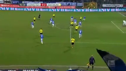Darmstadt 98 0-2 Borussia Dortmund - Golo de E. Durm (53min)