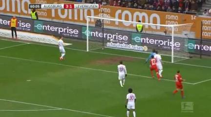 Augsburg 3-3 Bayer Leverkusen - Golo de K. Bellarabi (60min)
