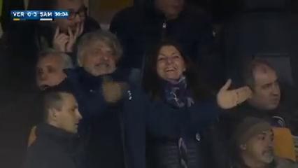 Verona 0-3 Sampdoria - Goal by L. Christodoulopoulos (30')