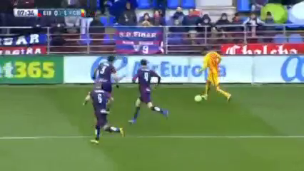 Eibar 0-4 Barcelona - Golo de Munir (8min)