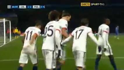 Chelsea 1-2 PSG - Golo de Diego Costa (27min)