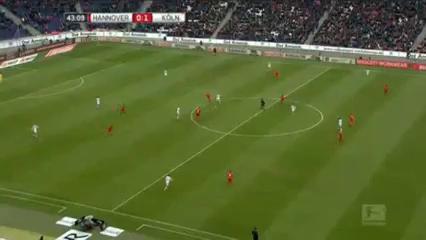 Hannover 96 0-2 Köln - Golo de L. Bittencourt (43min)