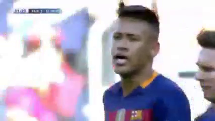 Barcelona 6-0 Getafe - Golo de Neymar (32min)