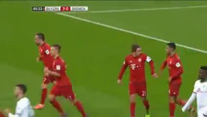 Bayern München 5-0 Bremen - Gól de T. Müller (31min)