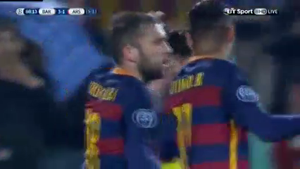 Barcelona 3-1 Arsenal - Golo de L. Messi (88min)