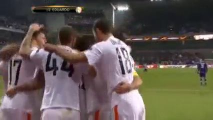 Anderlecht 0-1 Shakhtar Donetsk - Golo de Eduardo Da Silva (90+3min)