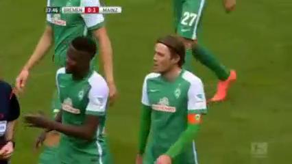 Werder Bremen 1-1 Mainz 05 - Golo de J. Baumgartlinger (38min)