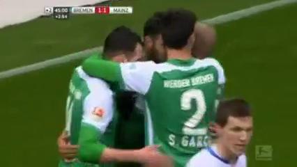 Werder Bremen 1-1 Mainz 05 - Golo de C. Pizarro (45+3min)