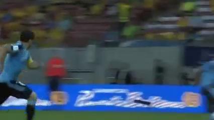 Brazil 2-2 Uruguay - Golo de E. Cavani (31min)