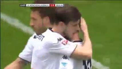Borussia M'gladbach 5-0 Hertha BSC - Golo de T. Hazard (14min)