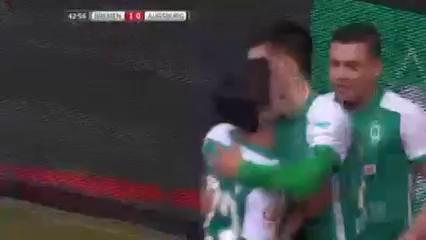 Werder Bremen 1-2 Augsburg - Golo de F. Grillitsch (43min)