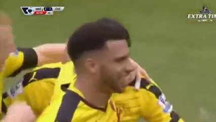 Watford 1-1 Everton - Golo de J. Holebas (45+3min)