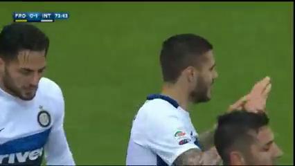 Frosinone 0-1 Internazionale - Golo de M. Icardi (74min)