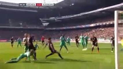 Werder Bremen 1-2 Augsburg - Golo de Jeong-Ho Hong (87min)