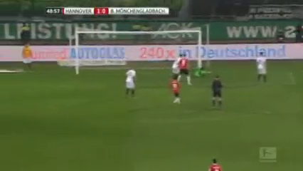 Hannover 96 2-0 Borussia M'gladbach - Golo de W. Anton (49min)