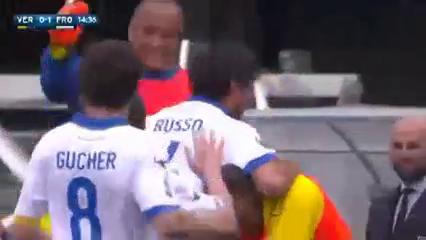 Hellas Verona 1-2 Frosinone - Golo de A. Russo (15min)