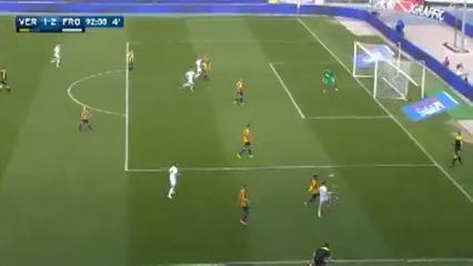 Hellas Verona 1-2 Frosinone - Golo de A. Frara (90+2min)