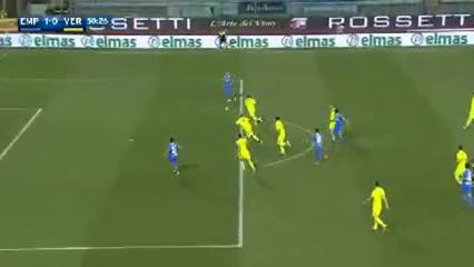 Empoli 1-0 Hellas Verona - Golo de M. Maccarone (50min)