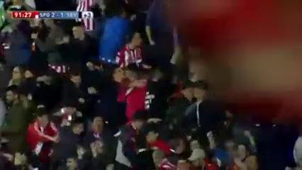 Sporting Gijón 2-1 Sevilla - Golo de Isma López (90+1min)