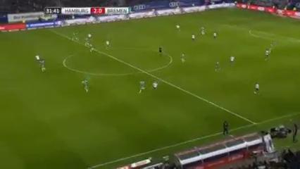 Hamburger SV 2-1 Werder Bremen - Golo de P. Lasogga (32min)