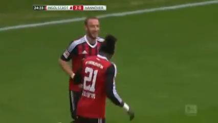Ingolstadt 2-2 Hannover 96 - Golo de M. Hartmann (25min)