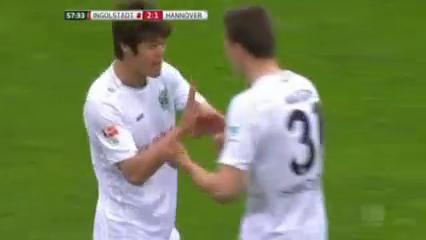 Ingolstadt 2-2 Hannover 96 - Golo de H. Sakai (58min)