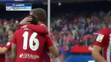 Atlético Madrid 1-0 Málaga - Golo de Á. Correa (62min)
