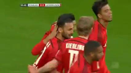 Schalke 04 2-3 Bayer Leverkusen - Golo de K. Bellarabi (56min)