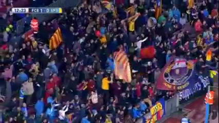 Barcelona 6-0 Sporting Gijón - Golo de L. Messi (12min)