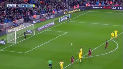 Barcelona 6-0 Sporting Gijón - Golo de Neymar (85min)