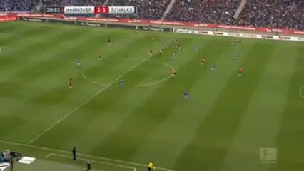 Hannover 96 1-3 Schalke 04 - Golo de A. Sobiech (21min)