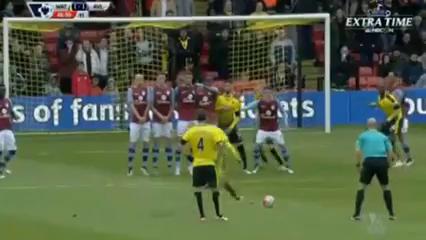 Watford 3-2 Aston Villa - Golo de A. Abdi (45+2min)