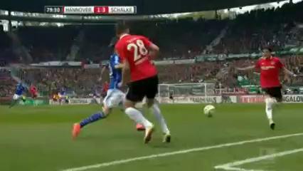 Hannover 96 1-3 Schalke 04 - Golo de A. Schöpf (80min)