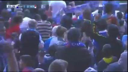 Espanyol 1-0 Sevilla - Golo de F. Caicedo (52min)