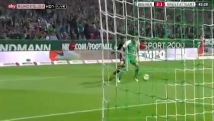 Werder Bremen 6-2 Stuttgart - Golo de L. Öztunali (42min)